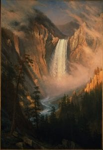 "Albert Bierstadt: ""Yellowstone Falls,"" ca. 1881 Oil on canvas. Buffalo Bill Center of the West."