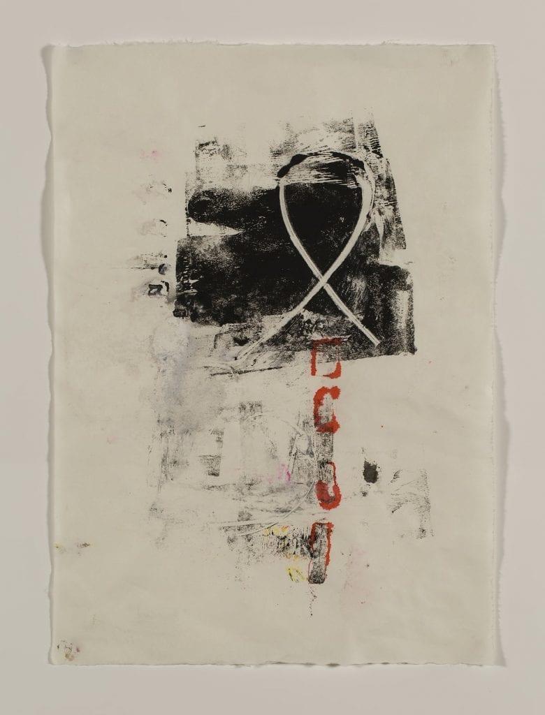 "Karen Schwartz: ""Ampersand."" Monoprint and mixed media. Image courtesy artist."