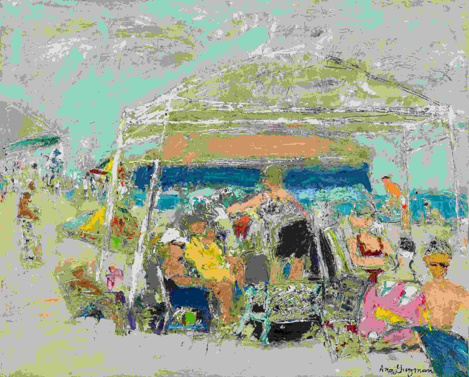 """A Day at the Beach"" by Ana Guzman"