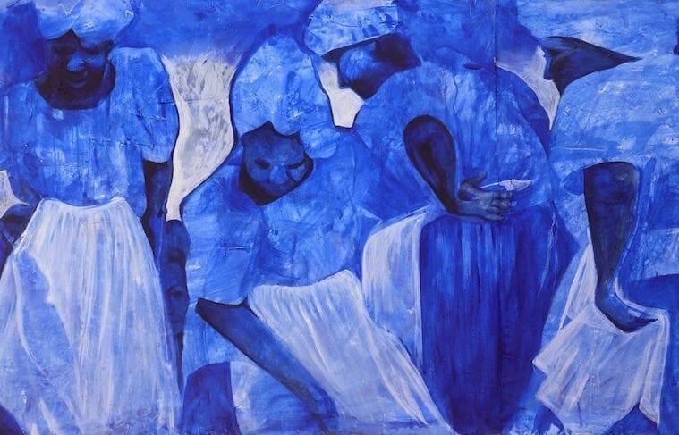 "Atlanta artist Charmaine Minniefield's ""Ancestral Mothers' Prayer for the Children"""