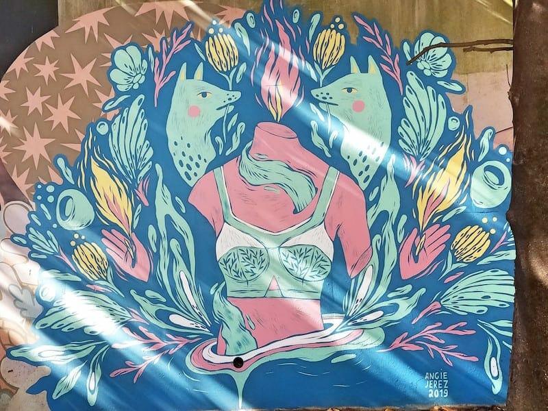 Angie Jerez mural