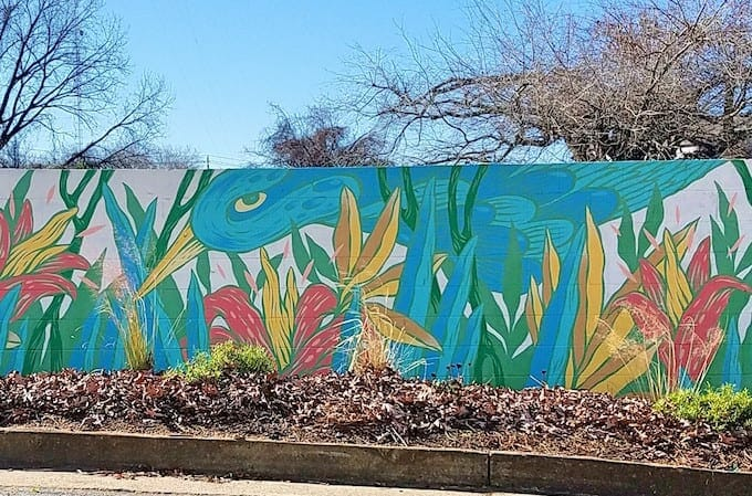Angie Jerez Lake Claire mural