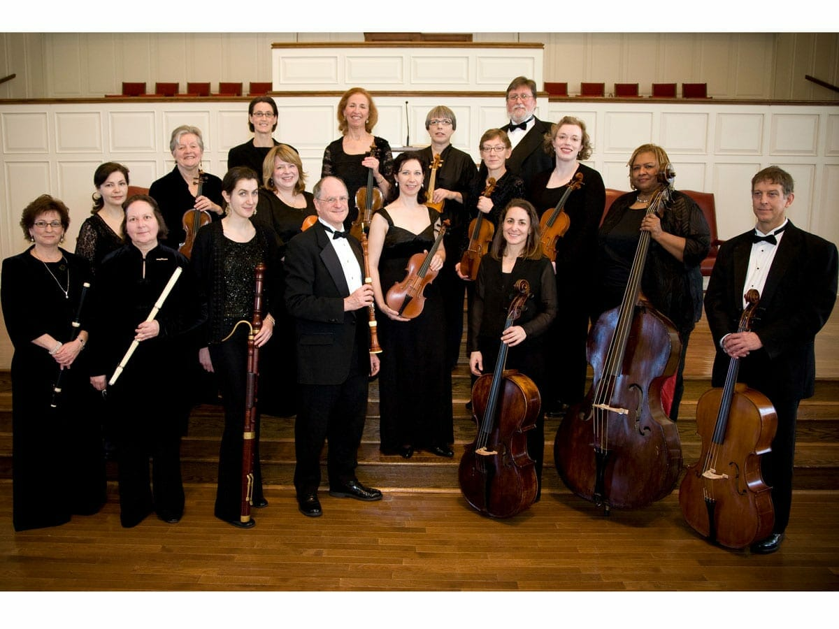 A group photo of the Atlanta Baroque Orchestra.