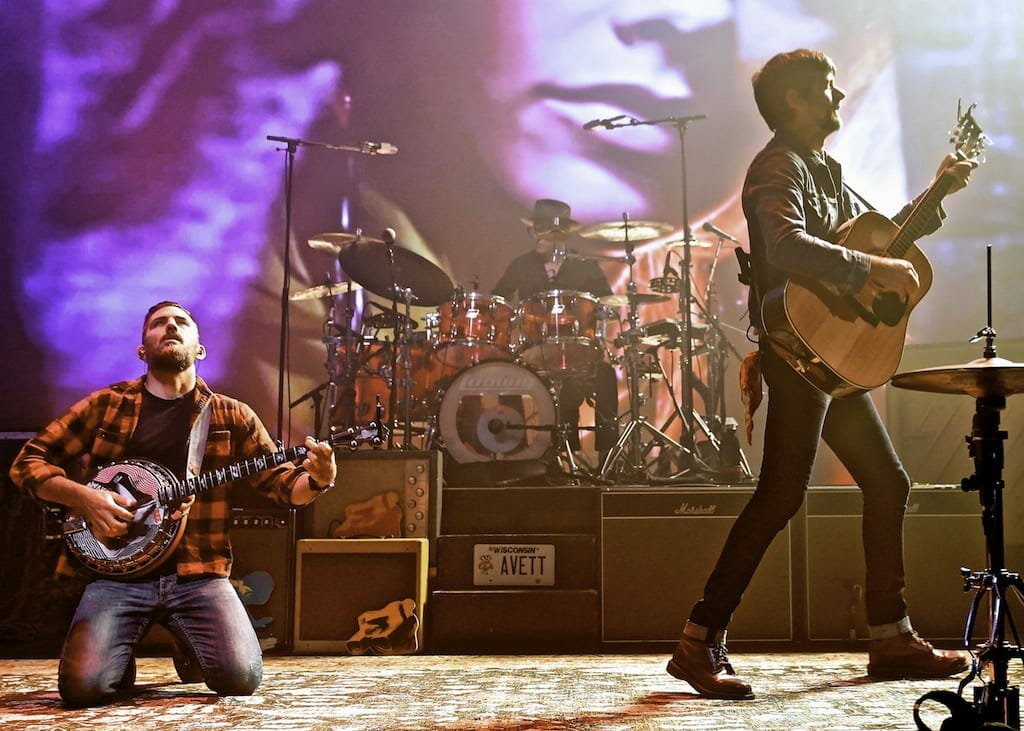 The Avett Brothers perform at Atlanta's Fox Theatre.