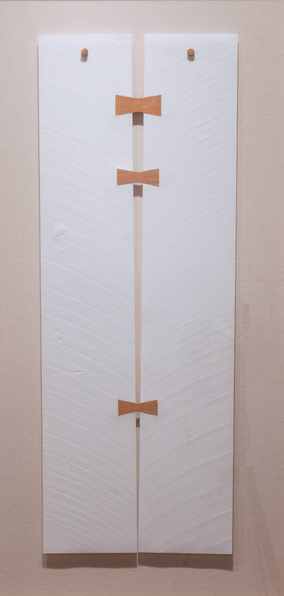 """""""BJ315,"""" embossed paper and wood, 2015. Photo courtesy Sandler Hudson Gallery."""