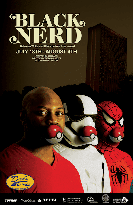 Poster art for BLACK NERD at Dad's in 2018