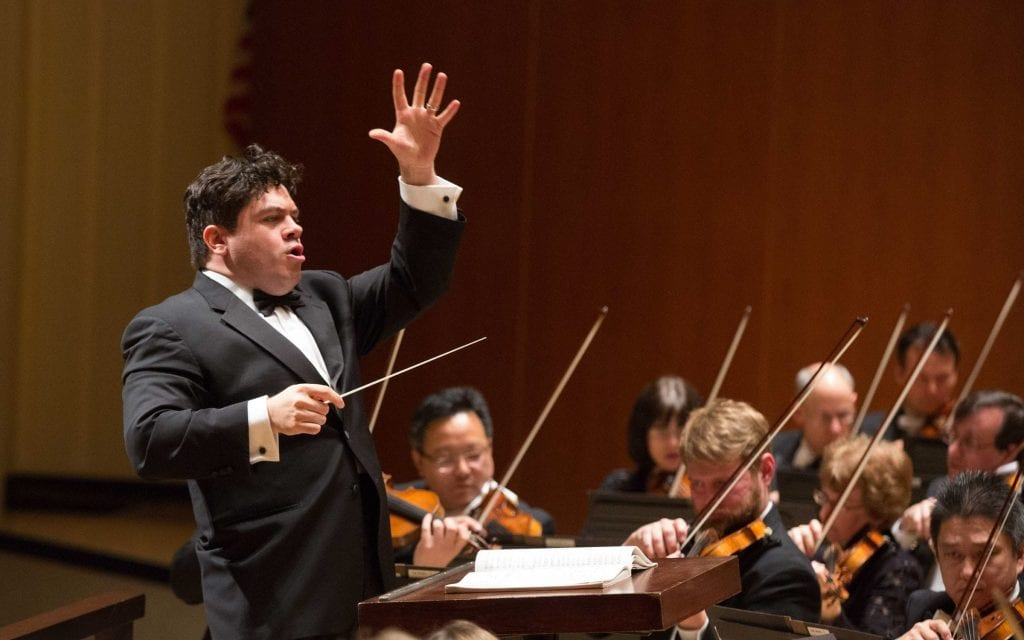Guest conductor Cristian Măcelaru made his ASO debut. (Photos by Jeff Roffman)