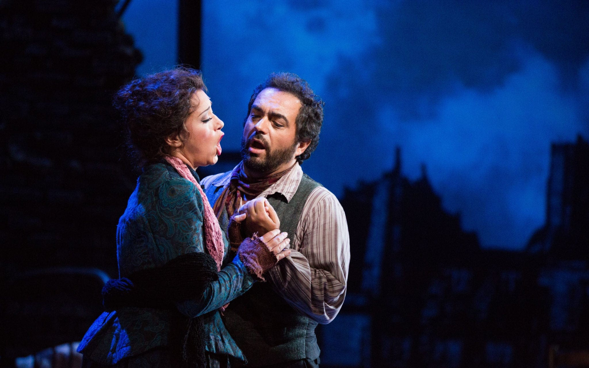 Maria Luigia Borsi and Gianluca Terranova in La Bohème. (Photos by Jeff Roffman)
