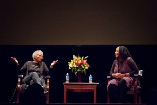 Alice Walker and Valerie Boyd in conversation in 2013. (Photo by Phields Photography)