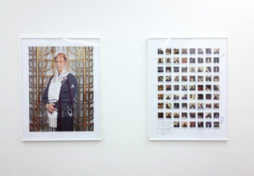 Ben Schonberger: Sergeant Marty Gaynor: Systems of Identification, Occupation and Faith, 2013, archival inkjet print. 56 x 44 inches Courtesy the artist.