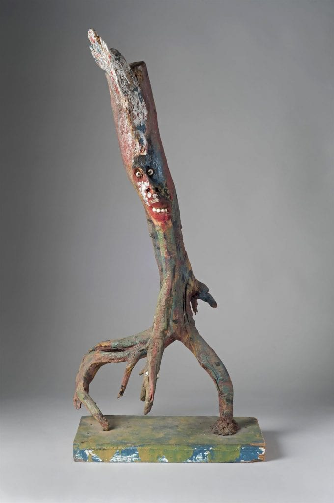 "Jentleson would like to build upon strengths of the High Museum of Art's Folk and Self-taught art collection. Though the museum has ""great work"" by Bessie Harvey, for instance, the curator would like to add ""monographic depth"" to enhance viewer understand of the late Tennessee artist. Shown here is Harvey's untitled 1980s root sculpture featured in the exhibition ""A Cut Above: Wood Sculpture From the Gordon W. Bailey Collection"" on view at the High through Oct. 30. (Image courtesy High Museum of Art)"