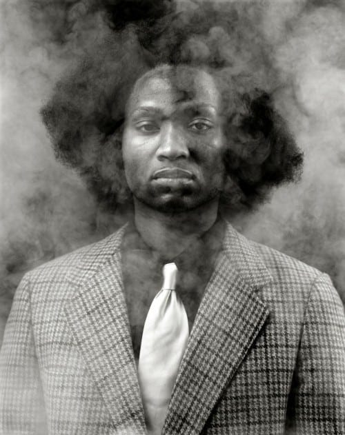 "Rashid Johnson:  ""The New Negro Escapist Social and Athletic Club (Thurgood),"" 2008."
