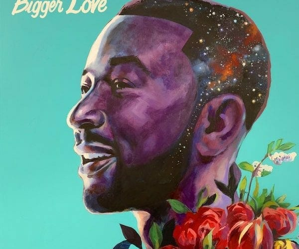"""""""Bigger Love"""" album cover for John Legend, painted by Charly Palmer"""