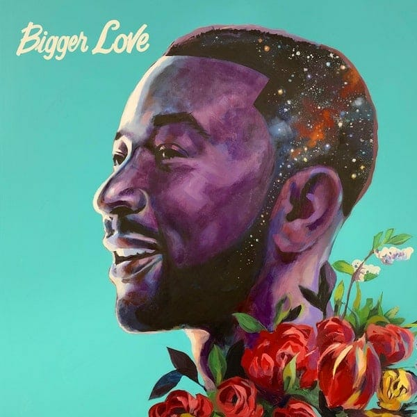 """Bigger Love"" album cover for John Legend, painted by Charly Palmer"