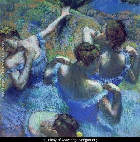 """Degas' """"Blue Dancers."""""""
