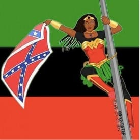 Bree Nesome, who down the flag in Charleston, became a comic book superhero.
