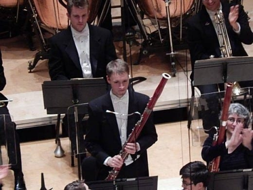 ASO's Buncke (center) will join the Chicago Symphony )rchestra.