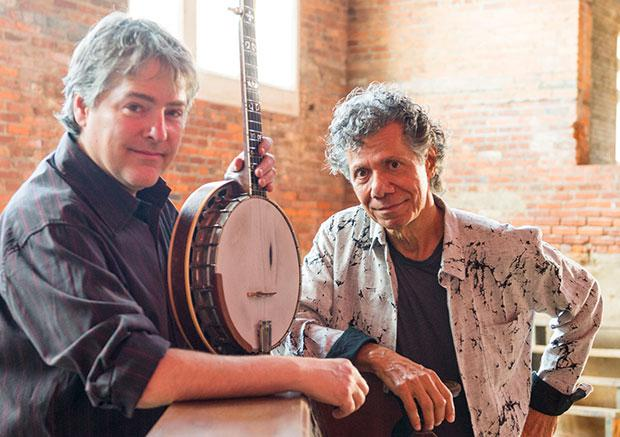 Bela Fleck (left) and Chick Corea crossing genres.