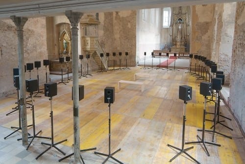 Janet Cardiff's 2001 Forty part Motet at Johanniterkirche, Feldkirch, Austria. 2005. ©Janet Cardiff; Courtesy of the artist and Luhring Augustine, New York.
