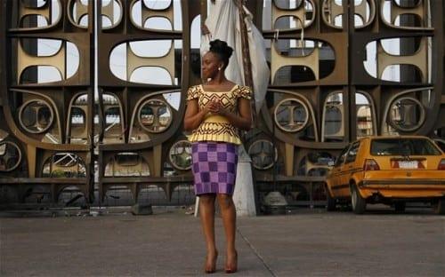 Chimamanda Ngozi Adichie in Lagos, Nigeria