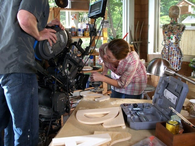 Claire Bronson acts in a Home Depot commercial.
