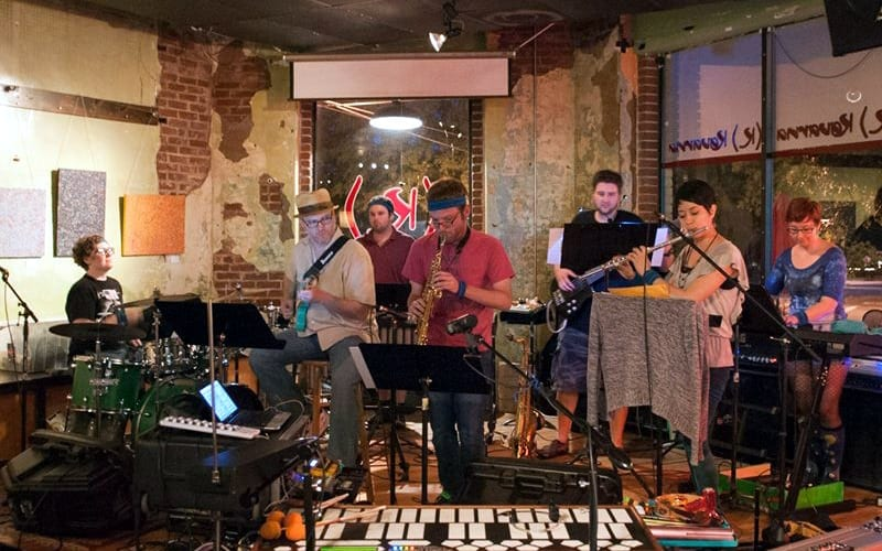 The Clibber Jones Ensemble at Kavarna. (Photo by Hector Amador)