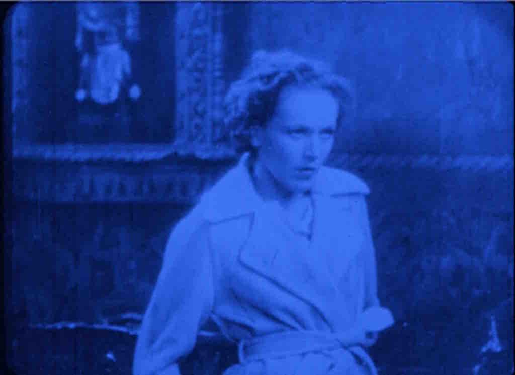 Scene from Joseph Cornell Rose Hobart Film
