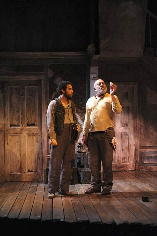 "John Clarence Stewart onstage in ""The Whipping Man."""