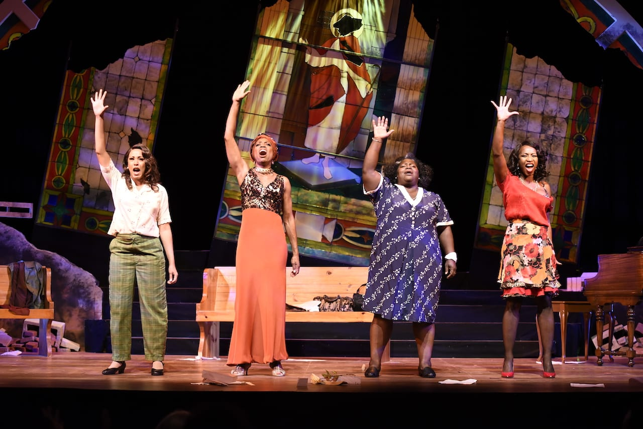 "performers in True Colors Theatre production of ""Four Women"""