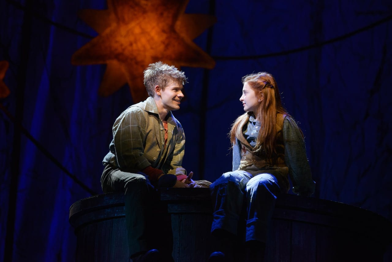 Sarah Charles Lewis and Andrew Keenan-Bolger the Broadway-bound Tuck Everlasting. (Photo by Greg Mooney)