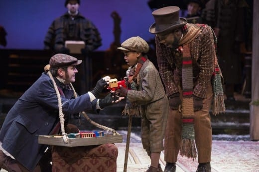 Jaden Robinson as Tiny Tim in Alliance Theatre's Christmas Carol (All photos by Greg Mooney
