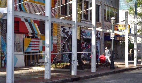 Artists are working to transform gritty South Broad Street into an arts district. (Photo by Allie Goolrick)