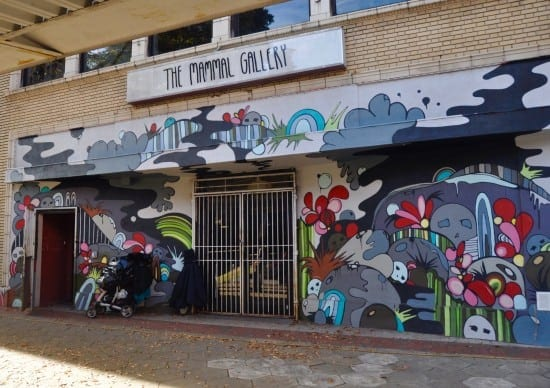 Mammal Gallery was the first art space on the street. Mural by Sarah Emerson. (Photo by Allie Goolrick)