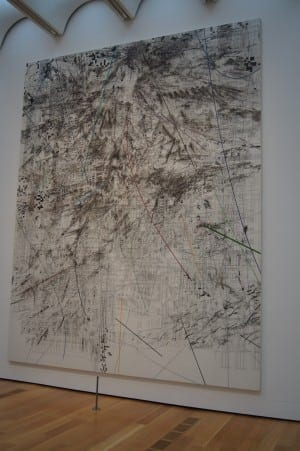 Julie Mehretu: Mogamma (A Painting in Four Parts) (Part II), 2012, ink and acrylic on canvas. Collection of High Museum of Art.