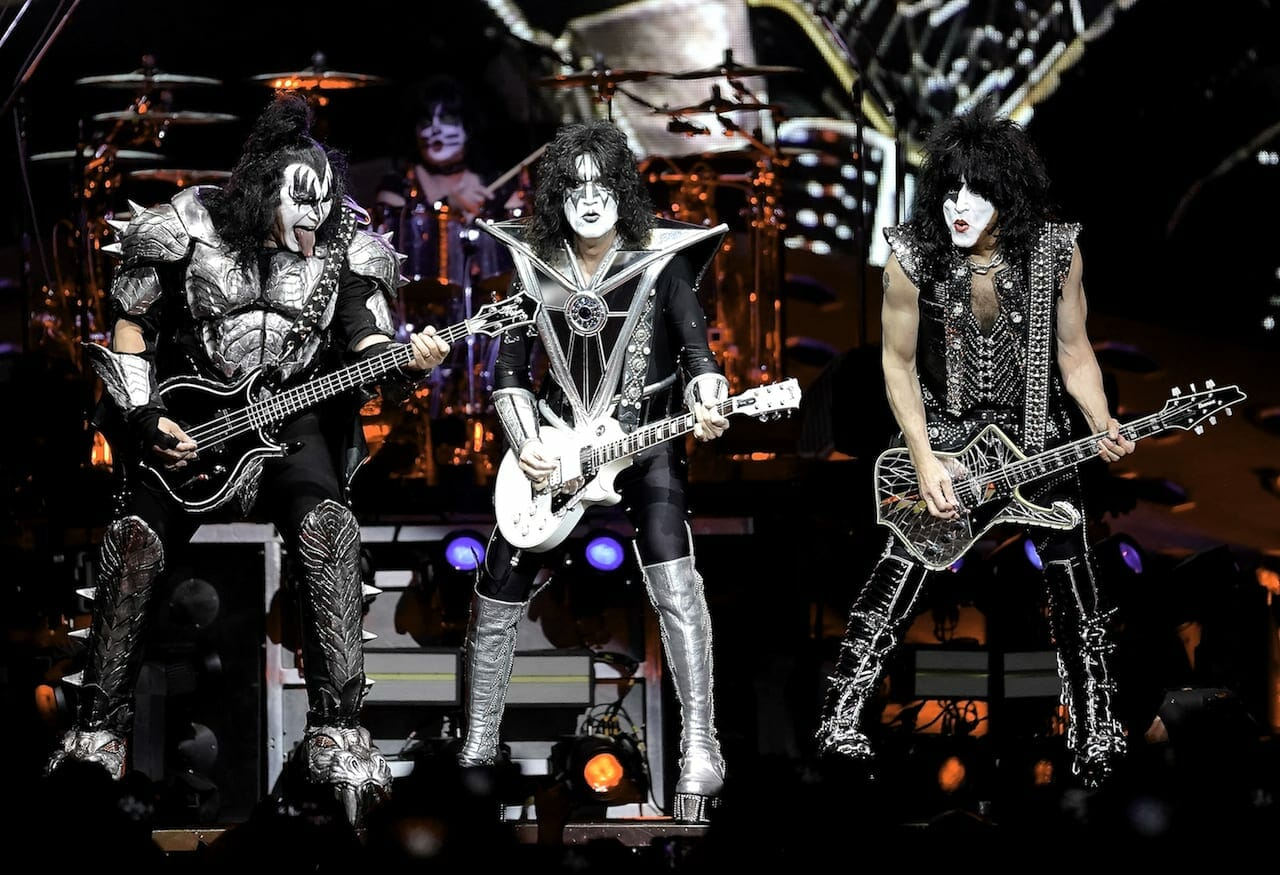 Kiss performs at State Farm Arena.