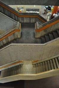 Interior of the Central Atlanta Library, designed by Marcel Breuer. Image courtesy Michael Kahn.
