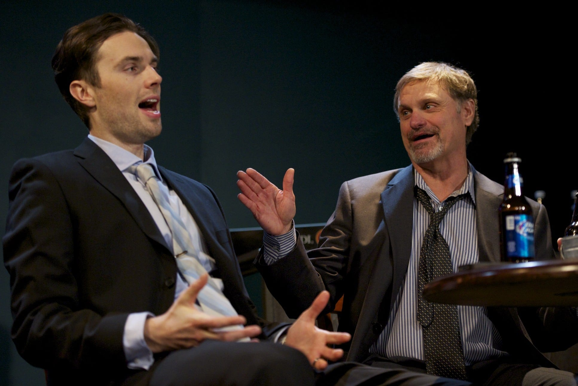 Playwright and actor Grant McGowen, left, with Alex Van. (Photo by Drake Simons)