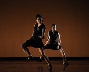 Atlanta Ballet's Tara Lee (left) and Nadia Mara in Moments of Dis. (Photo by Charlie McCullers)