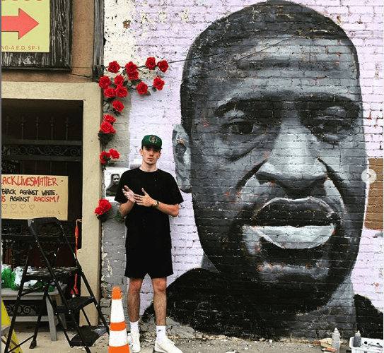 Dustin Emory George Floyd mural, June 2020