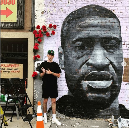 Dustin Emory George Floyd mural, June 2020