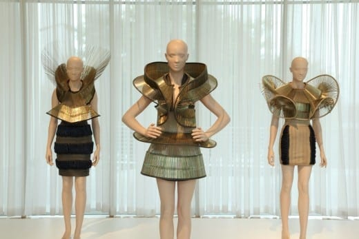 Dresses by Iris van Herpen at the High Museum. (Photo by Mike Jensen)