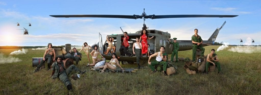 The dramatic panoramic photograph Clowdus shot for Miss Saigon.