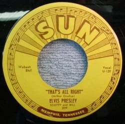 """Label for """"That's All Right,"""" released in 1954."""
