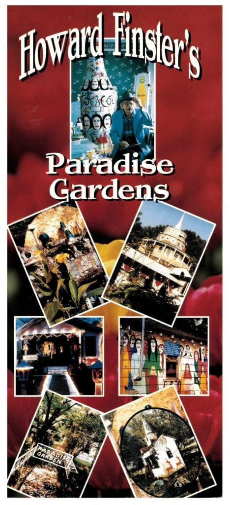 Scan of a brochure from Paradise Garden, 1990.