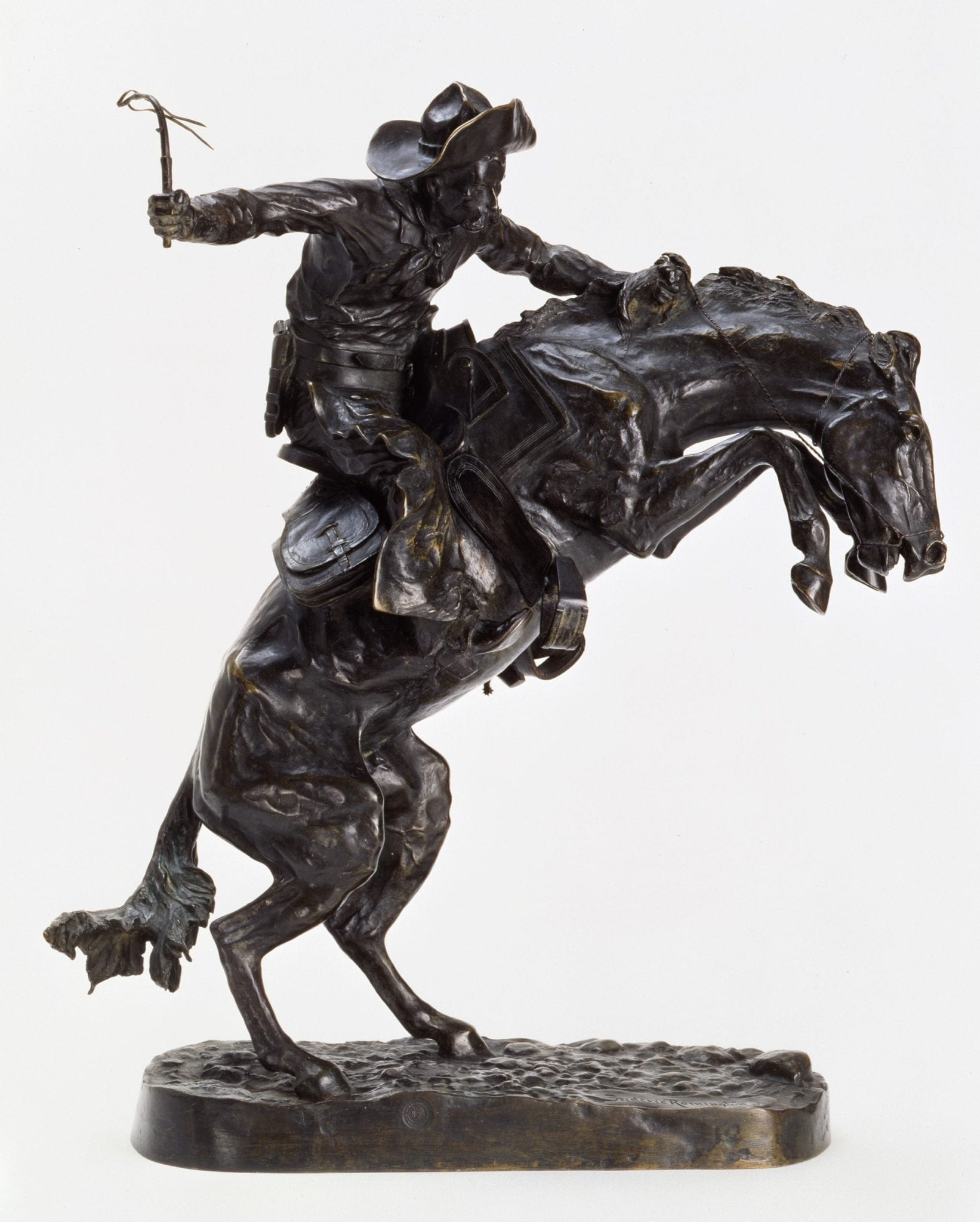 """Frederic Remington: """"The Broncho Buster,"""" 1895, bronze. Buffalo Bill Center of the West."""
