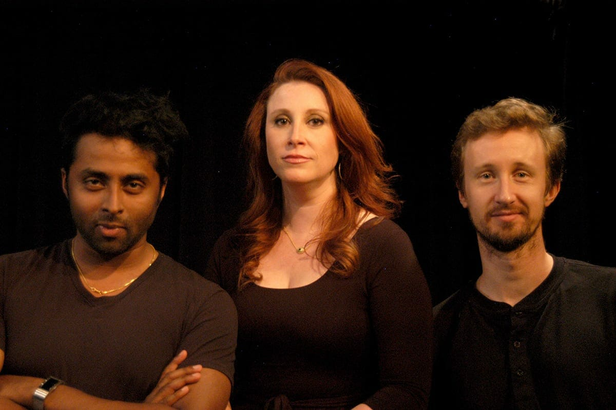 Tamil Periasamy, Erin Greenway and Chris Schulz, photo credit Judy Thomas