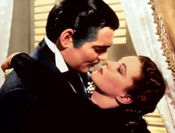 The star-crossed love affair of Rhett and Scarlett.