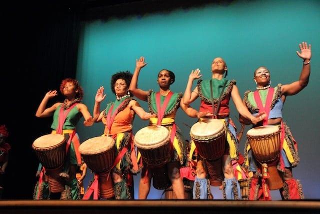 Atlanta's Giwayen Mata female drum troupe.