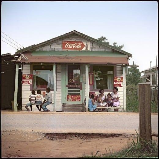 Gordon Parks: Store Front, Mobile Alabama, 1956. Courtesy of and copyright The Gordon Parks Foundation.