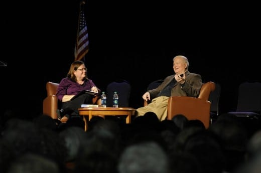 Pat Conroy and Teresa Weaver converse at the MJCCA Book Festival.